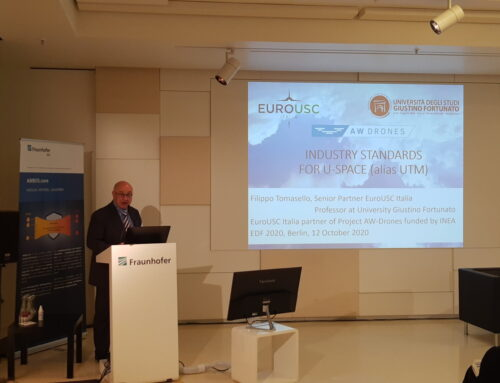 Filippo Tomasello at the European Drone Forum 2020